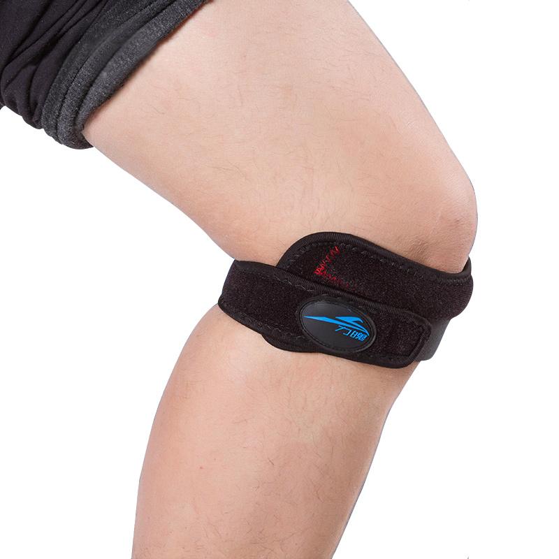 2016 Adjustable Sports Leg Knee Patella Support Strap Sports Knee Pads Band Brace Wrap Protector Kneepad Black(China (Mainland))