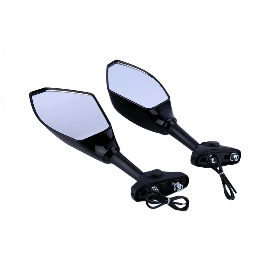 New Hot Selling! Universal Black LED Turn Signal Light Rearview Mirror For Motorcycle Sports Car(China (Mainland))