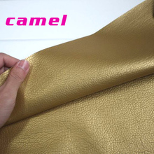 Camel faux leather , PU Leather Fabric Sewing ,artificial leather for diy bag material, sold BY THE YARD, FREE SHIPPING!!!(China (Mainland))