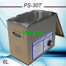globe AC110/220V ultrasonic cleaner machine 6L PS-30T 180W 40KHZ  For Laboratory beakers PCB hardware  (China (Mainland))
