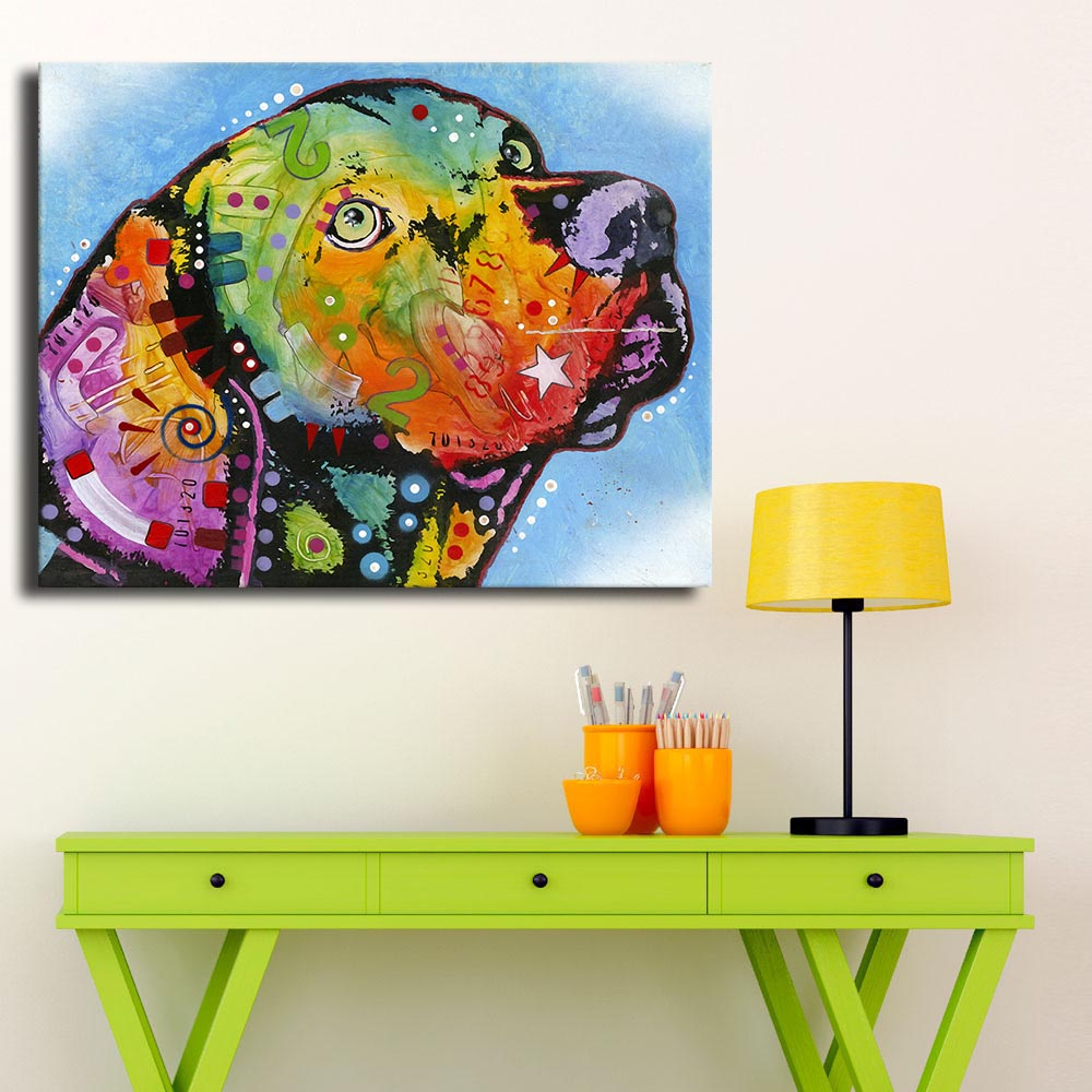 2016 Paintings printed by machines Hot Sell Vizsla dog Art Wall Painting For Home Decor Idea Print On Canvas No Framed Picture!(China (Mainland))
