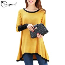 5 Colors Autumn Sweater Medium-long Women 2015 Asymmetric Long Sleeve Pullover Casual Knitted New Fashion Sweaters WZM889(China (Mainland))