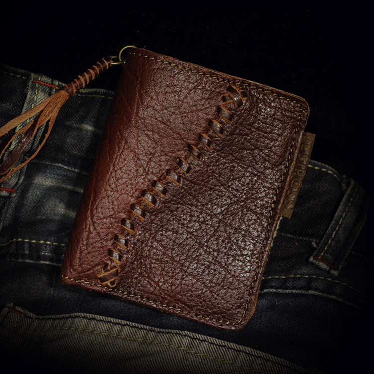100 Genuine Cow Leather First Layer Leather Men wallet Crazy Horse Handmade Men s wallets Card