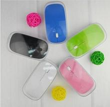 Party Supplies 100pcs/lot # Ultra Slim USB Wireless Mouse MIni Optical Mouse 2.4G with retail packaging(China (Mainland))