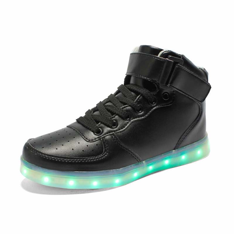 7 Colors 2015 High Top LED Shoes for Adults, Luminous Women Ankle Boots USB Lighted Shoes Casual Men Shoes, Male Winter Boots<br><br>Aliexpress