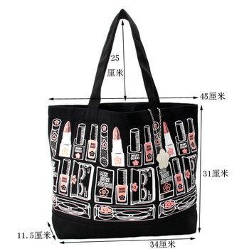 Free Shipping 100% high quality print  ladies's shoulder bag (make up artwork print design) #6407