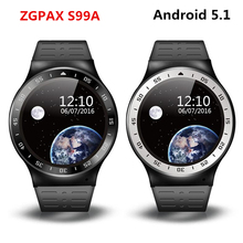 Buy Stock S99A PK KW88 No.1 D5 X3 Plus 3G Smart Watch Android 5.1 2.0MP Cam 8GB +512 GPS WiFi Pedometer Heart Rate 3G Smartwatch for $75.83 in AliExpress store
