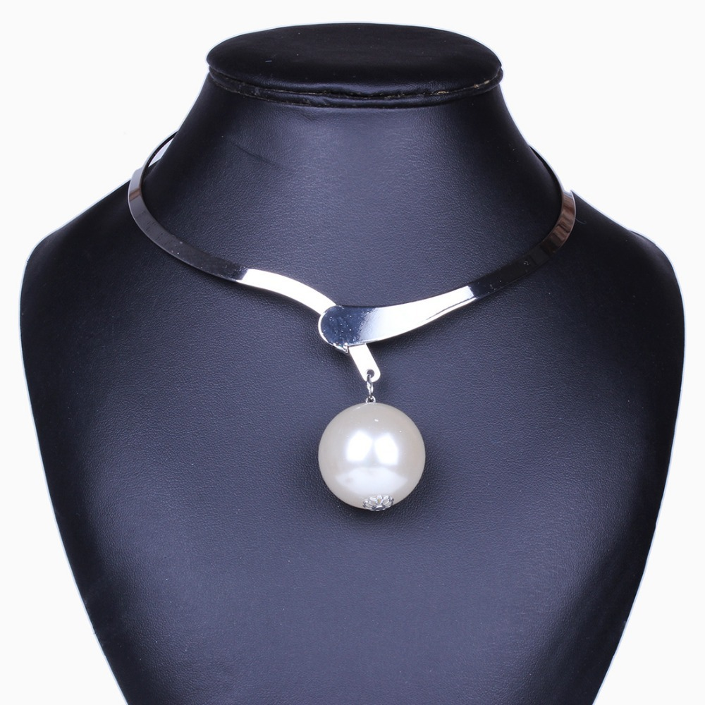 Vogue Huge Imitation Pearl Choker Necklaces&Pendants For Women Free Shipping XL62461(China (Mainland))