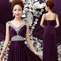 Women Sleeveless Sexy A Line Halter Elegant Wedding Party Formal Gowns Long Evening Dress 2016
