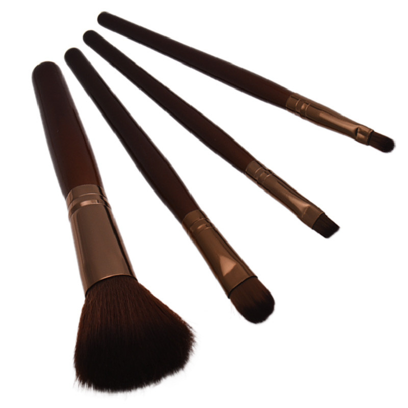 Best Deal New Women Professional 4 pcs Makeup Brush Set tools Comestic Toiletry Kit Wool Brand