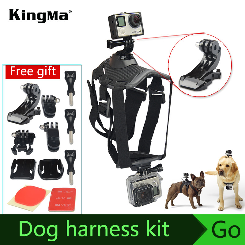 KingMa Fetch Dog Harness go pro accessories Chest Strap Mount for Gopro Camera Hero 4 3