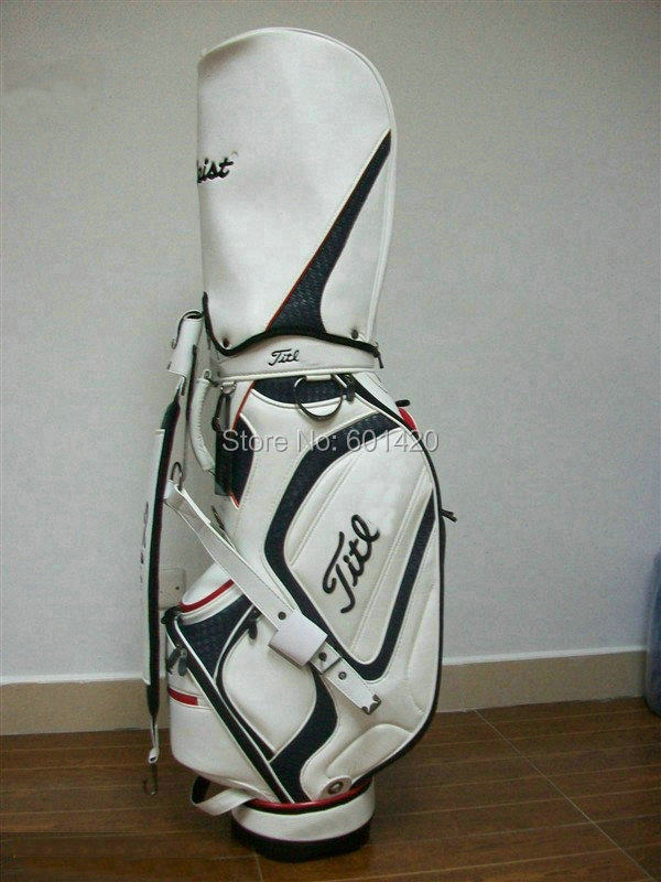 New golf bag with rain cover High quality PU leather golf package for golf player(China (Mainland))