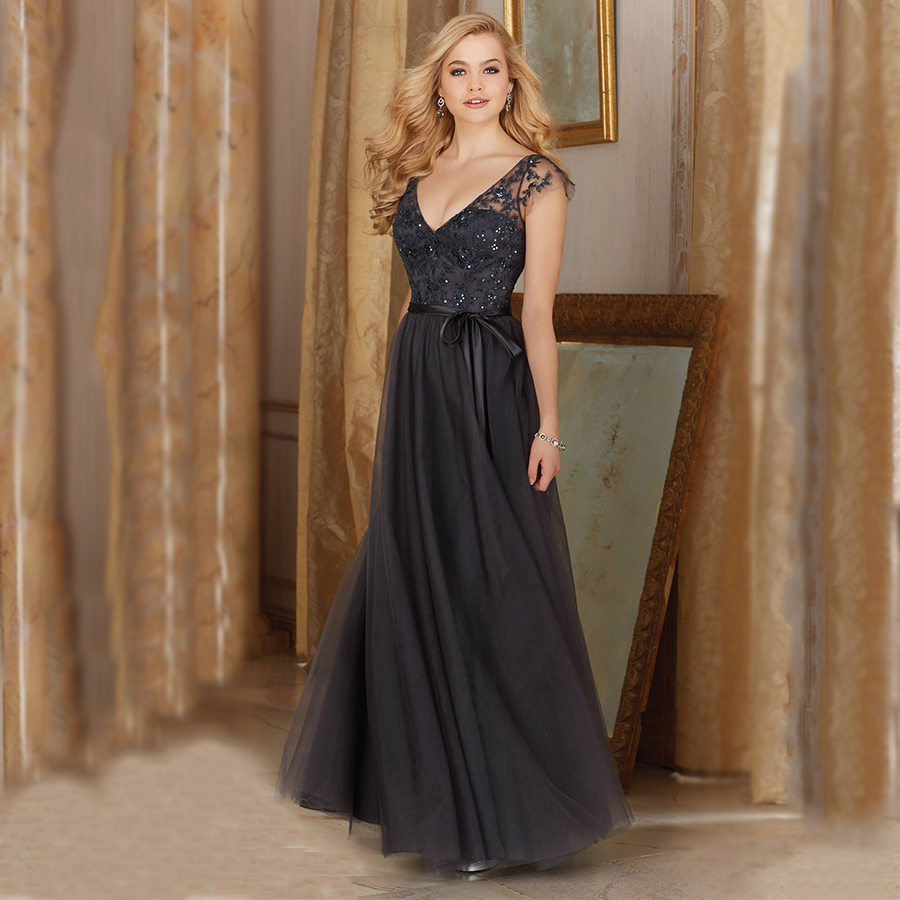 Compare prices on short grey bridesmaids dresses online shopping elegant gown tulle modest long bridesmaid dresses with cap sleeves 2016 grey gray robe de ombrellifo Gallery