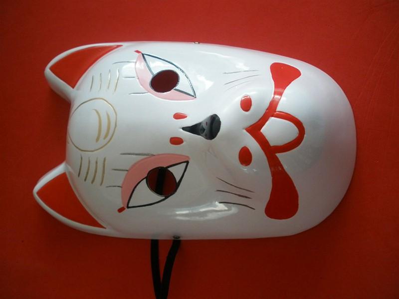 Naruto Hatake Kakashi Anbu Japanese Fox Mask Animal Hand-Painted Cartoon Face Mask Demon Kitsune Cosplay Masquerade Carnival (8)