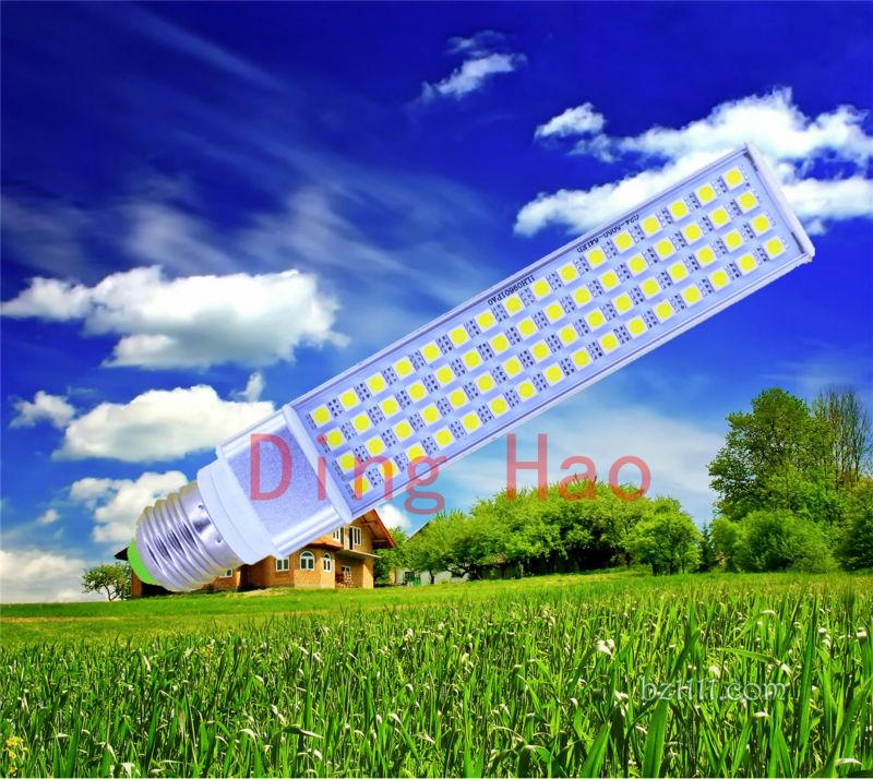 1pcs/lot Horizontal Plug Lamp LED Bulb 5W7W9W11W12W14W 5050 SMD25 35 44 52 60 64 LED G24 E27G23 Corn Light Lamp White/Warm White(China (Mainland))