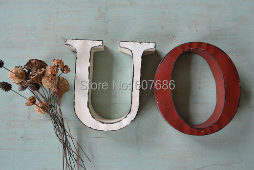 3 pieces vintage style hanging tin letters 26 letter metal for 3 inch black metal letters