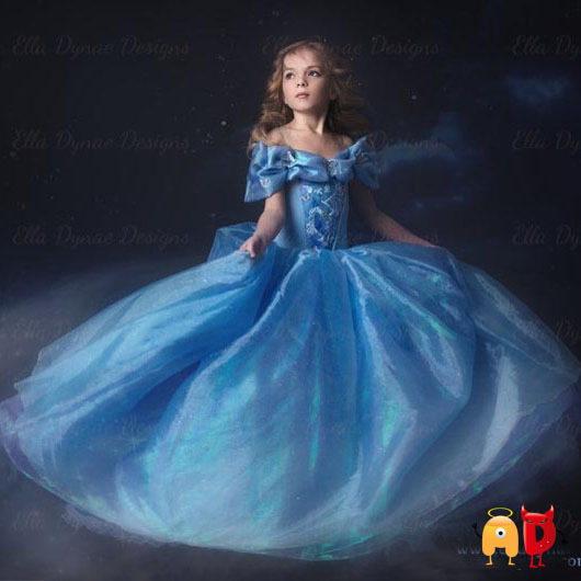 AD Tulle Dream Cinderela Girl Dress Summer Style Costume Princess Party Dress Up Baby Girls Dresses Clothing Snow Queen Clothes(China (Mainland))