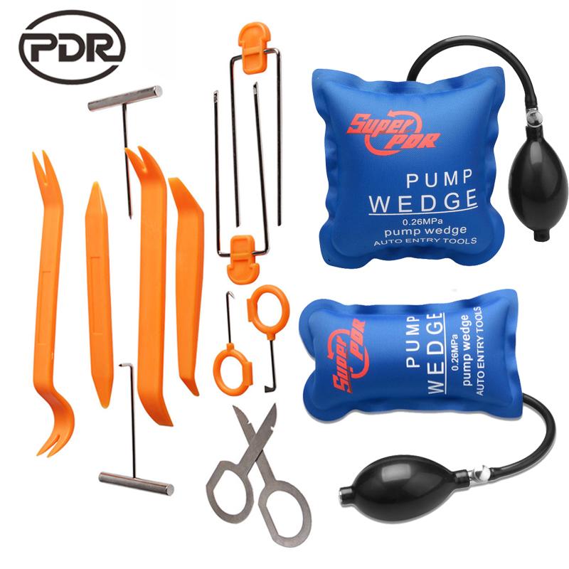 Super PDR Pump Wedge Locksmith Tools Lock Picks Open Car Door Lock Opening Tools + Car Radio Panel Removal Tools High Quality(China (Mainland))