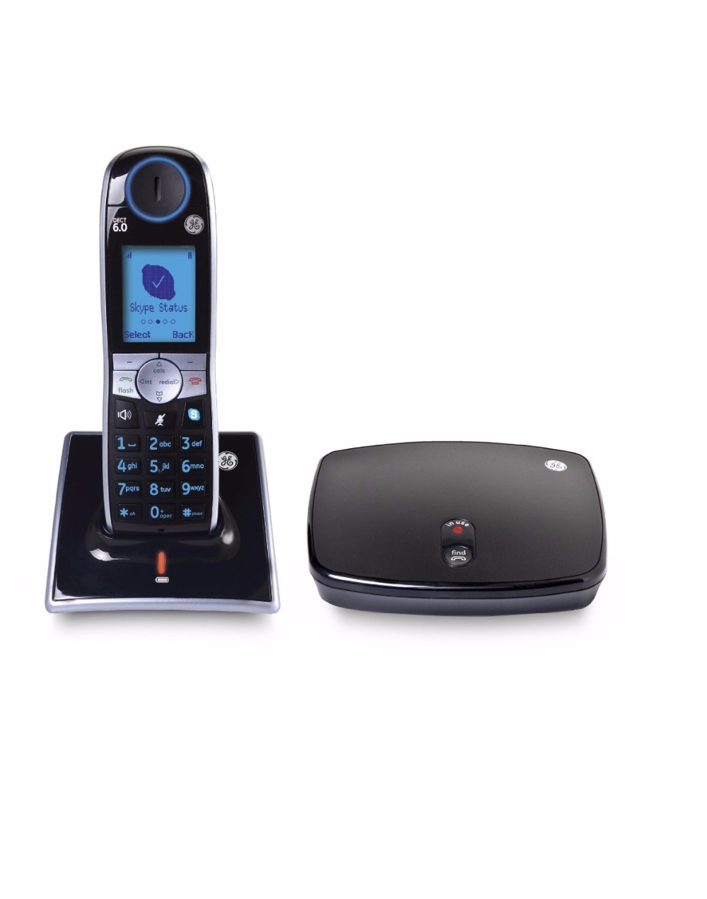 Brand New GE-31591GE1 DECT 6.0 2-Line Cordless Skype Phone Skype Line & Landline Operation Telephone, 1 handset(China (Mainland))