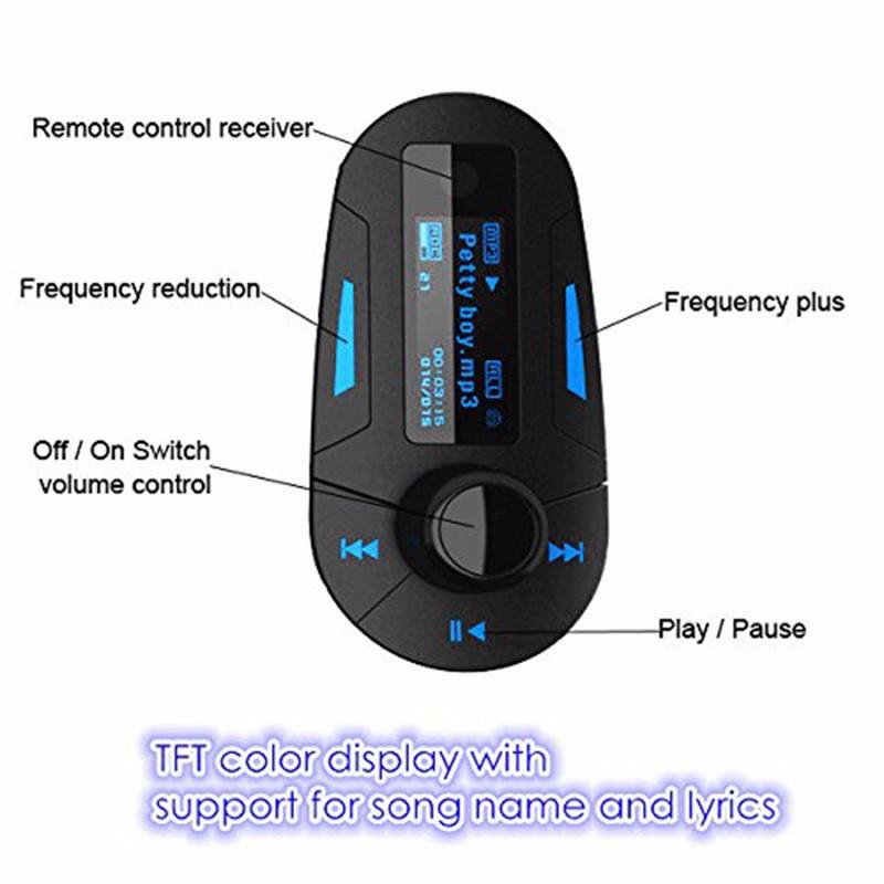 ALBK Car MP3 Player Wireless FM Transmitter Modulator with USB SD MMC LCD With Remote car mp3 player wireless fm modulato