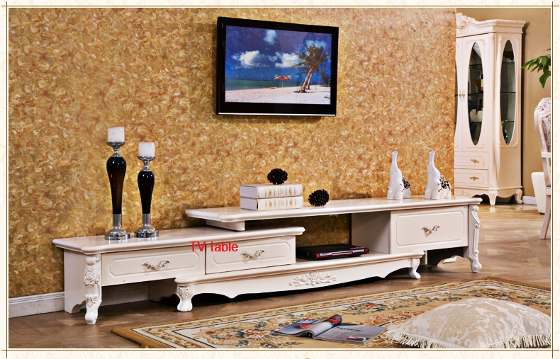 French Style Home Furniture Living Room Wooden Carved Tv Stands Tv Table In Tv Stands From
