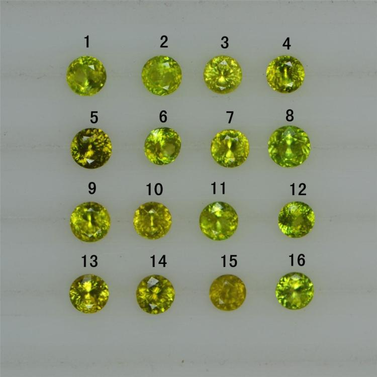 no heatment 6 to 6mm VS to VVS natural Sphene loose gems(China (Mainland))