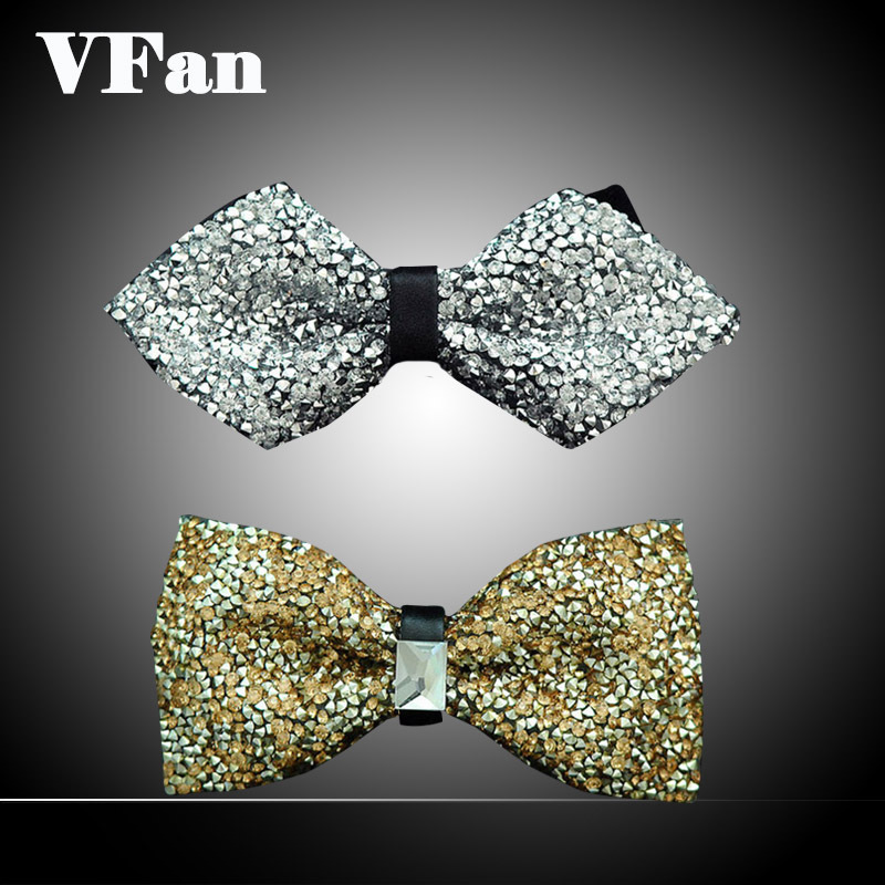 Men Bow Tie Rhinestone Six Fashion Style Butterfly Wedding Bridegroom Personality Ties 2015 Popular Brand Wide Section F1311(China (Mainland))