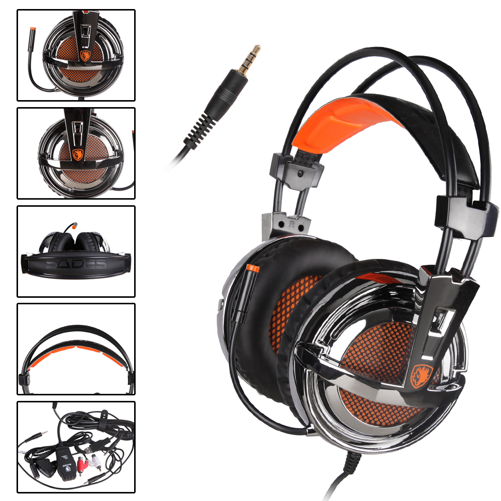 Original Sades SA-928 Professional Gaming Headset Headphones with Microphone Volume Control for PC Laptop Phone PS3 Xbox360(China (Mainland))