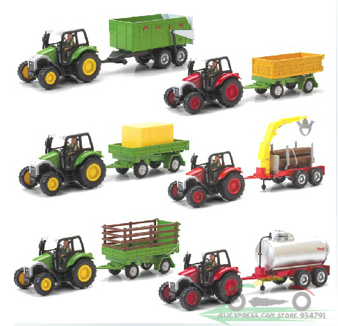 1:43 Farm Tractor Series combinations Optional Gift Box Toys Car Alloy Car Model Engineering Vehicles Wholesale Free Shipping(China (Mainland))