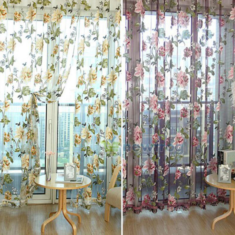 Home Textile Flower Embroidered Chinese luxury 3D Window Curtains fabric Tulle Sheer Curtains for bedroom living room kitchen(China (Mainland))
