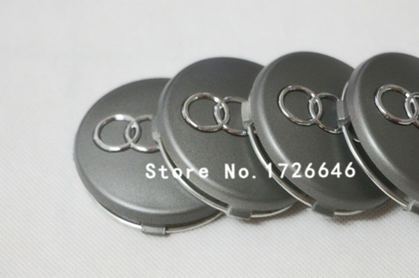 Free shipping 100Pcs/lot for audi New 60mm Wheel Center Hub Caps for Cars Wheel Center Hub Cover OEM:4B0 601 170 Grey(China (Mainland))