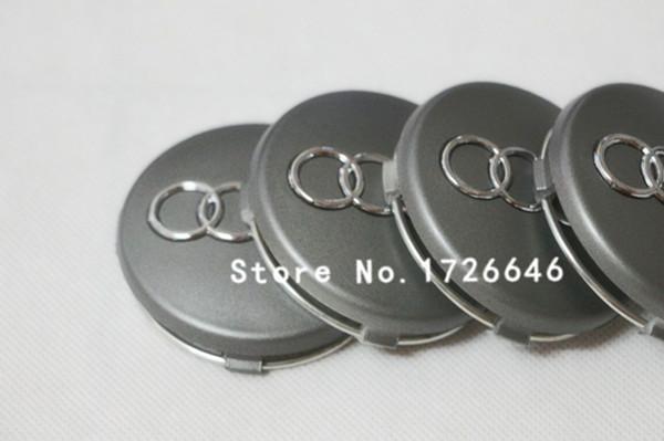 Free shipping 100Pcs/lot for audi New 60mm Wheel Center Hub Caps for Cars Wheel Center Hub Cover OEM:4B0 601 170 Grey(China (Mainland))