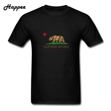 Buy Big Size Fashion Men Tee Shirt California Republic State Flag T-Shirt Man 100% Cotton Short Sleeve Youth Tshirt Tops Clothes for $13.11 in AliExpress store