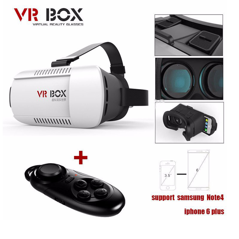 100pcs/Lot DHL VR BOX Virtual Reality 3D Glasses Movie Game for 4.7 - 6.0 Smart Phone Professional Cardboard Bluetooth Wireless<br><br>Aliexpress