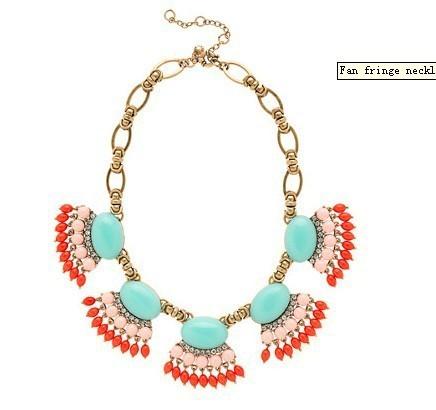 DHL free shpping  JC 2013  Fan fringe necklace