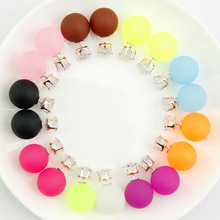 10Pairs/lot Discount Promotion 2015 New Fashion Double Two Side Korean Simulated Matte Stud Earrings Jewelry for Women(China (Mainland))