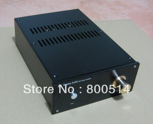 Black Full aluminum Power amplifier chassis /  Enclosure / case  JC229-4 ---(include Audio input/out terminals)<br><br>Aliexpress