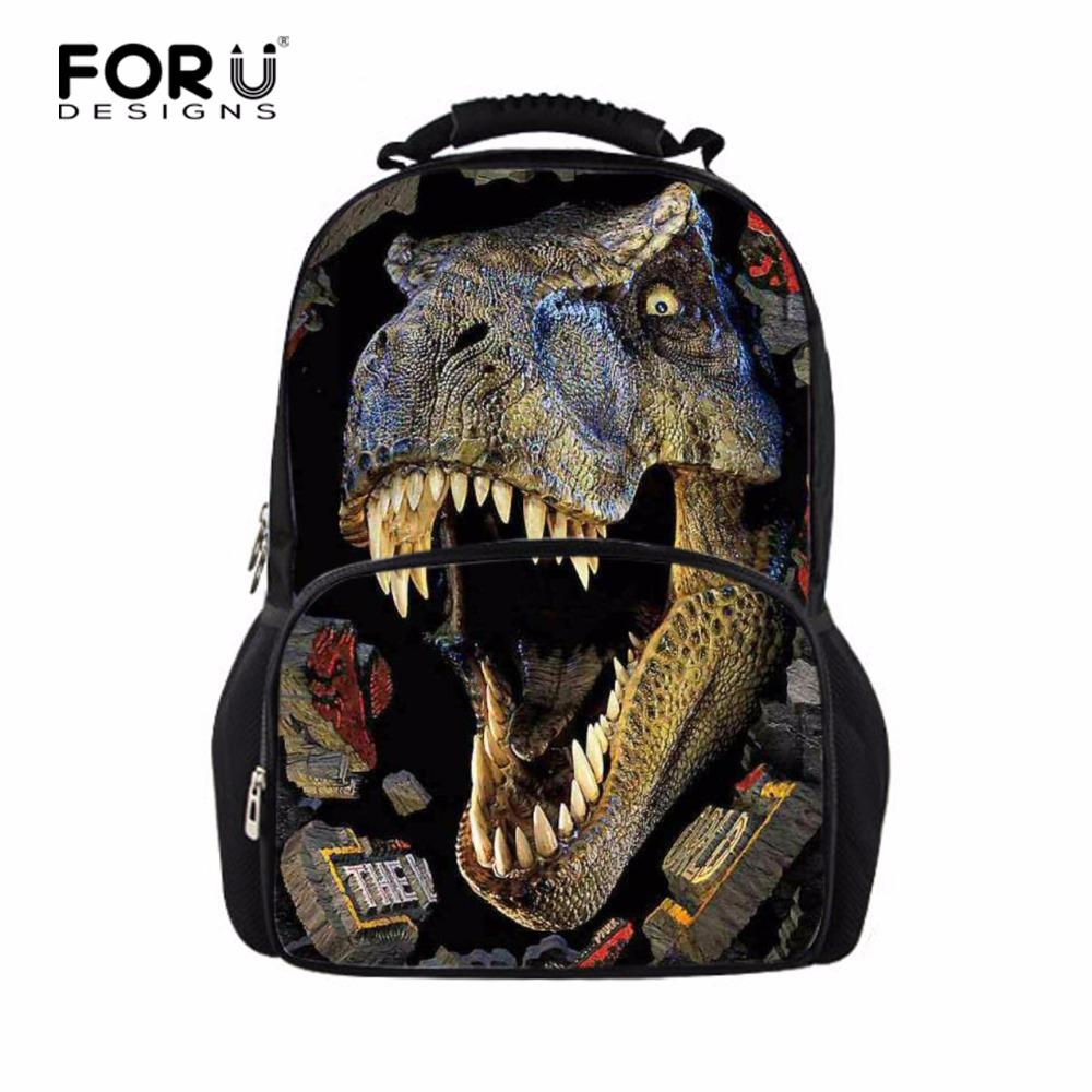 Designer Large 3D Dinosaur School Backpacks for Children Men Outdoor Tourism Bag Women Leopard Backbag Fashion Animal Backpack(China (Mainland))