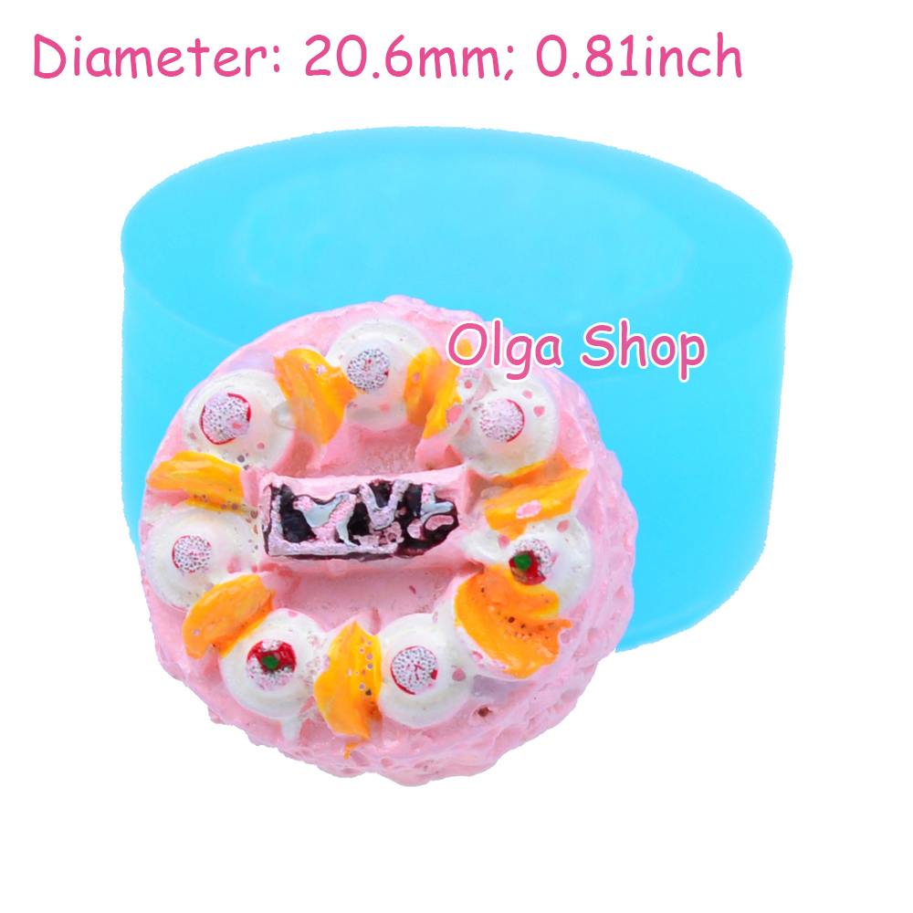 GYL198 Round HAPPY BIRTHDAY Cake Mold Fruit Cake Mould - Chocolate Polymer Clay Sugarcraft Molds, Resin Mould Food Safe(China (Mainland))