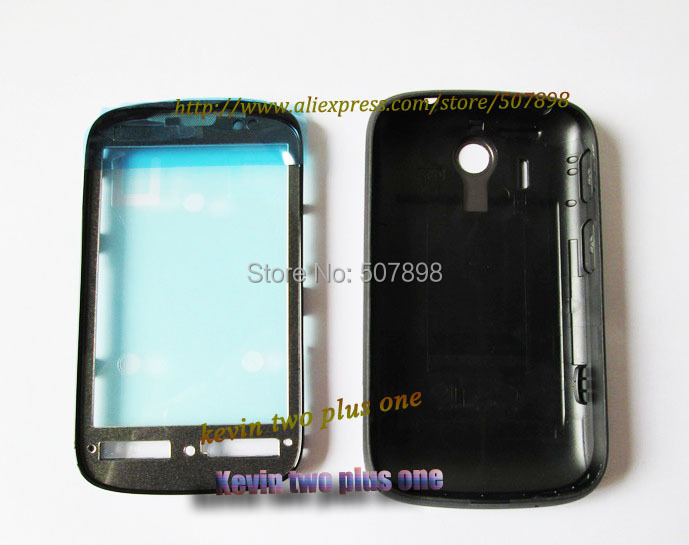 Original Front Bezel Frame Cover Front Plate Chassis for HTC Explorer A310e with back housing bettery door cover, free shipping(China (Mainland))