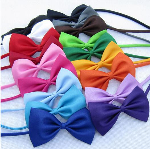 16color 50pc/lot Big sale Fashion Pet Dog Teddy Tie Bow Cat Neck ties Dog party Grooming Supplies Polyester & Cotton C07(China (Mainland))