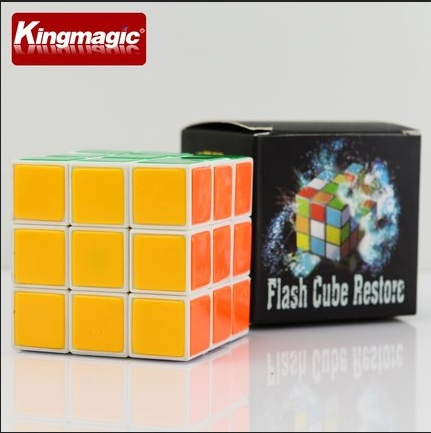 Improved Instant Restore Cube Flash Cube Restore High Quality Plastic Cube Magic Cube Magic Toys Magic Props Tricks(China (Mainland))