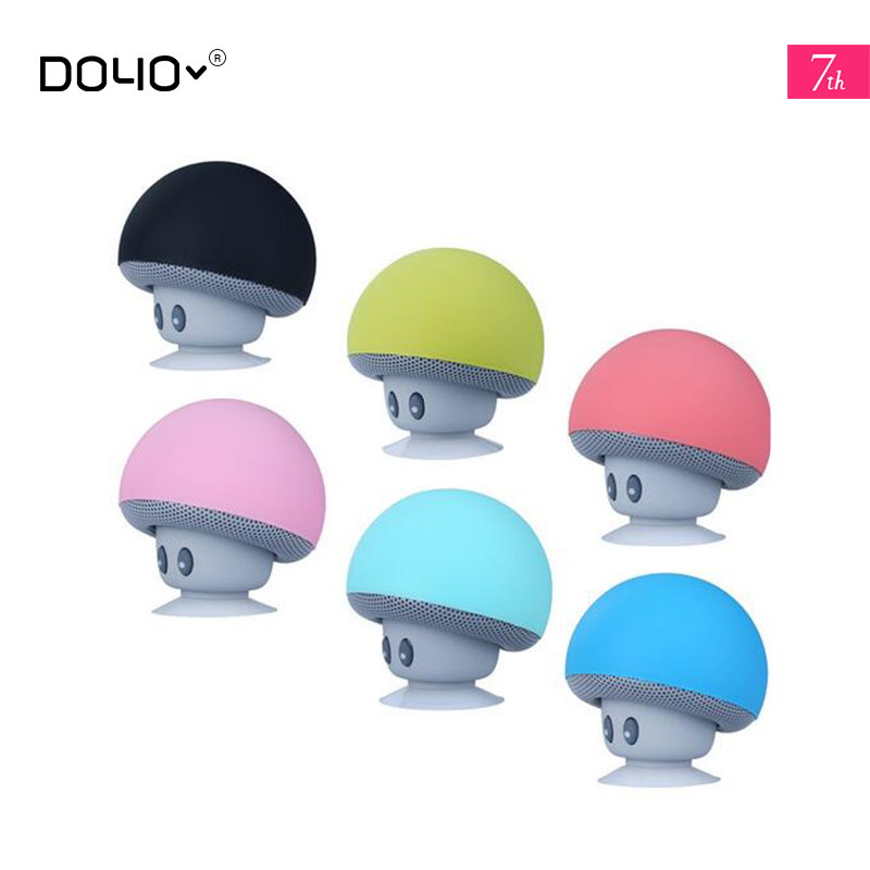 Cartoon small mushroom head Bluetooth speaker small suction cup creative mini mobile phone flat rack portable out(China (Mainland))