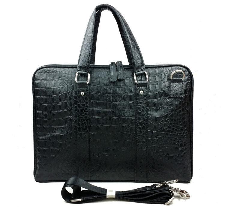 Фотография Natural Real Cow Leather Men Messenger Bags Luxury Alligator Head Design Men Bags Vintage Men Shoulder Cross body Bag #VP-B8160