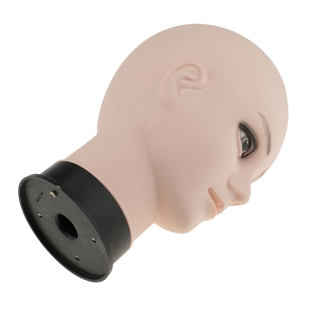 Male Mannequin Manikin Head Hair Wig Eye Glasses Holder Hat Display Model Stander - Skin Color/ 12inch For Stores Salons