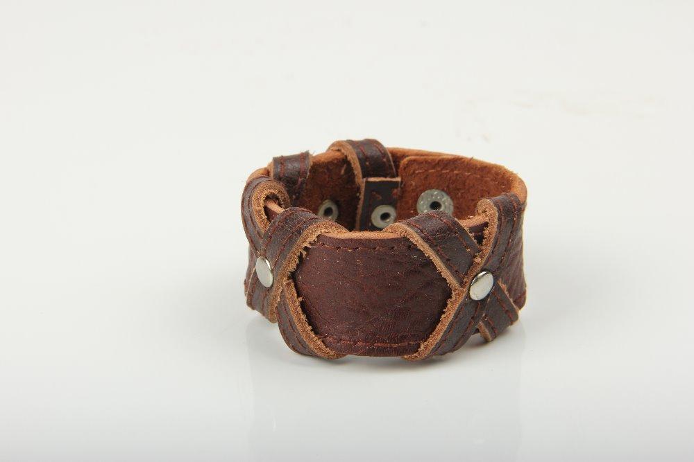 100% Hand-Woven Fashion Jewelry 2 Layers Leather Braided Wristband Men Bracelets & Bangles For Women(China (Mainland))