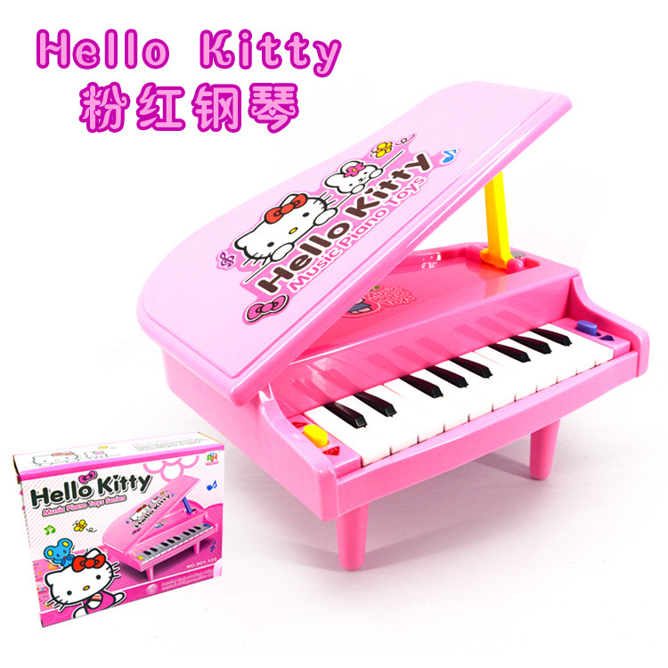 Cartoon Hello Kitty Kids Mini Musical Toy Electronic Keyboard Organ For Learning Education Simulation Small Piano Toy Girl Gift(China (Mainland))
