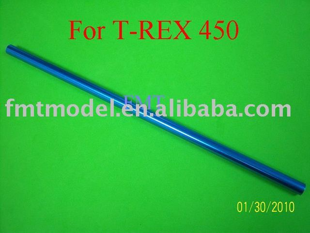 F00215 Blue Aluminum Tail boom 347MM for  TREX T-REX 450 Rc Helicopter Heli + FS