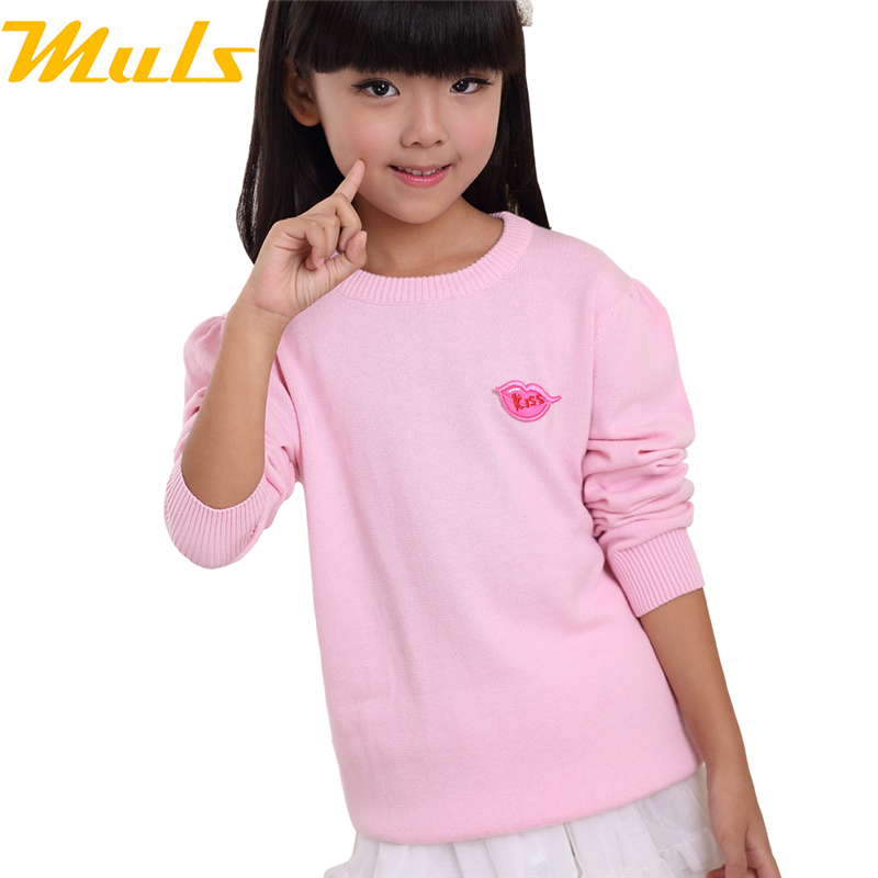 2015 of the most popular korean kids clothes,girls sweaters love kiss design image design of the pink sweater casaco infantil<br><br>Aliexpress