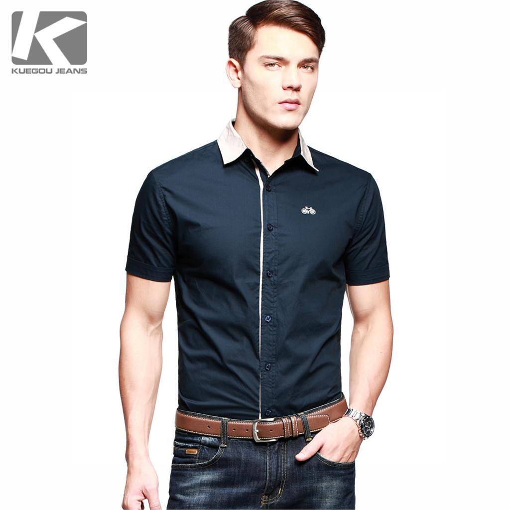 2015 Sale Camisa Jeans Embroidered Button Down Short